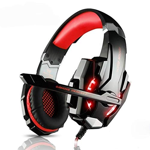 Ninja Dragon G9300 LED-Gaming-Headset mit Mikrofon, Rot