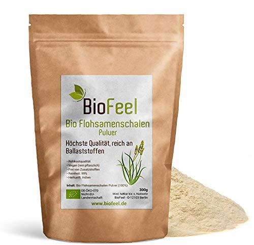 BioFeel - Bio Flohsamenschalenpulver, 300g - 99% Reinheit