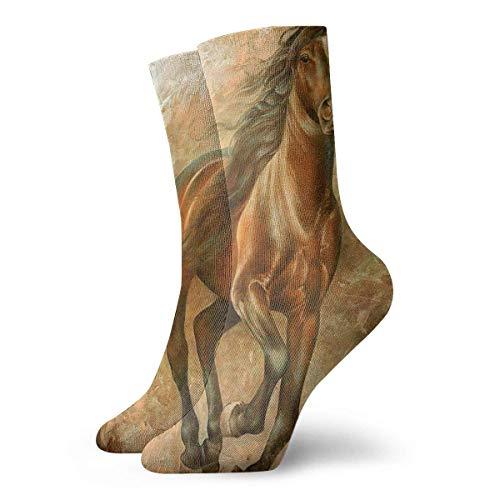 Calcetines de pintura al óleo de caballo Casul Novedad - Calcetines divertidos para hombres y mujeres