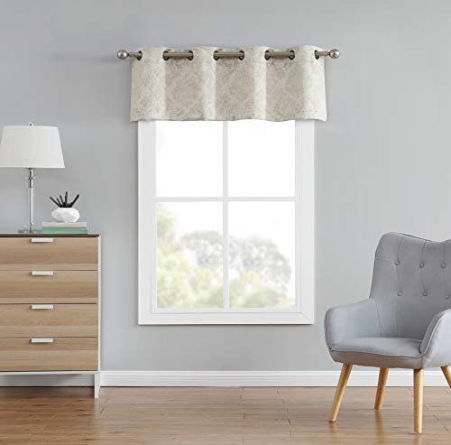 Evelyn - Embossed Thermal Weaved Blackout Curtains Valance- Room...