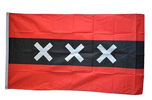 Flaggenfritze Fahne/Flagge Niederlande Stadt Amsterdam + gratis Sticker