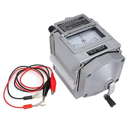 Megohmmeter ZC25-3 Hand Crank Insulation Megohm Tester Resistance Meter 500V(ZC25-3 500V)