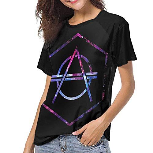 JEWold Galaxy Don Diablo Women's Baseball Short Sleeves Black Raglan T-Shirts Tee T Shirts for Women Frauen Kurzarm T-Shirts