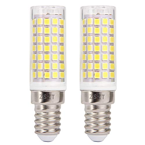 Lampadina LED E14 ZSZT 9W Equivaleni a 75W Bianco Freddo 6000K Cappa da Cucina LED AC220-240V Piccola vite di Edison 2 Pezzi
