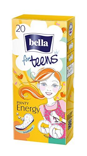 bella for teens Slipeinlagen Energy: speziell auf die Bedürfnisse sehr junger Frauen abgestimmt, 6er Pack (6 x 20 Stück)