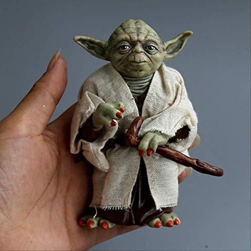 GRTG 12cm Stern Yoda Darth Vader Wars Action Figur Puppe Spielzeug Die Macht Erwacht Jedi Ritter Meister Yoda Baby Anime Figuren Lichtschwert 12cm Yoda