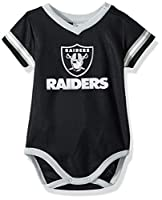 NFL Oakland Raiders Baby-Boy Dazzle Bodysuit, Team Color, 0-3 Months