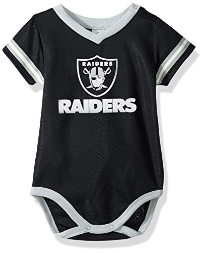 NFL Oakland Raiders Team Jersey Bodysuit, black/silver Oakland Raiders, 3-6 Months (138781160RAD06M-003)