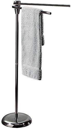 Spirella Handtuchständer mit 2 beweglichen Stangen Handtuchhalter in Edelstahl, silber