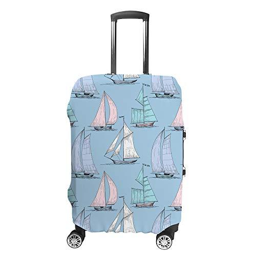 Chehong Maleta cubierta de equipaje lindo barcos vela viaje Trolley caso protector...