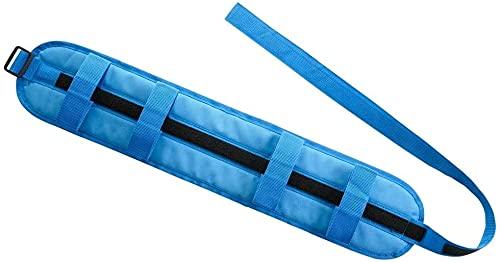 Mobiclinic, Cinturón de transferencia para adultos, Cinturón de seguridad, con 4 Asas, ayuda para discapacitados, 74 x 14 cm, color Azul