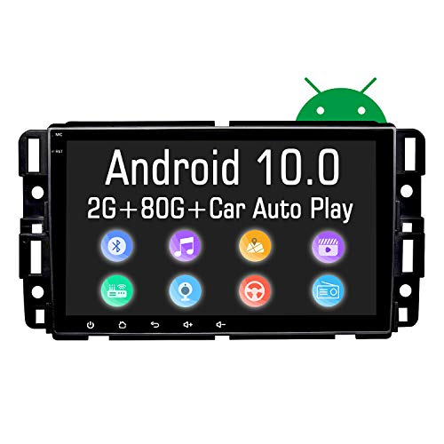 NVGOTEV Car Stereo Navigation Fits for GMC Sierra Yukon Chevrolet Buick Chevy Silverado Auto Audio Multimedia Support Bluetooth WiFi SWC DSP TPMS