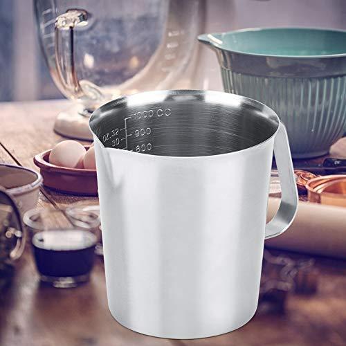 Scale Cup, Mischbecher 1000ml Milchbier Messbecher Anti-Rutsch-Messbecher, Restaurant Cafe for Home