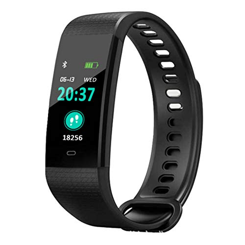 Wsaman Actividad Pulsera Reloj, Inteligente Monitor de Ritmo cardíaco,con 0.96''Pantalla Color,para Hombre Mujer, Impermeable Reloj Deportivo,Negro