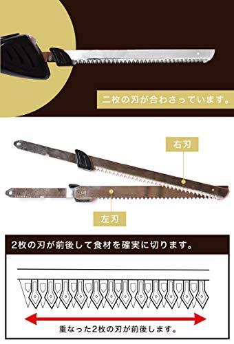 THANKO充電式コードレス電動肉&パン切り包丁「エレクトリックナイフ」SECSKHKR