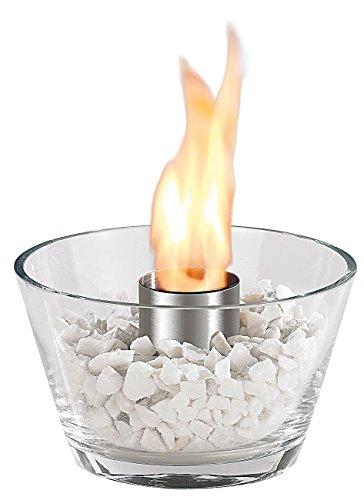 Carlo Milano Feuer Glas Schale: Glas-Feuerschale Marrakesch für Bio-Ethanol (Glasfeuerschale)