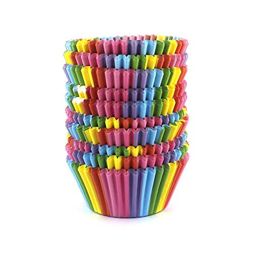 Warm party Baking Cups Cupcake Liners, Standard Sized, 300 Count (Rainbow),
