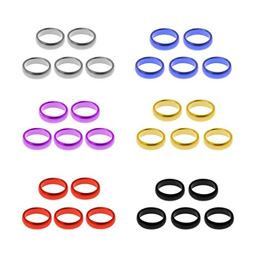 Why Choose TPTPMAY 5pcs Aluminum O Ring Guard Circle for Nylon Plastic Dart Shafts Protection Hold t...
