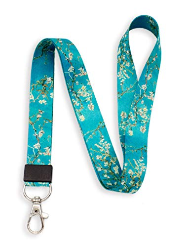 SENLLY Van Gogh Almond Neck Lanyard Strap Premium Quality with Metal Clasp, for Id