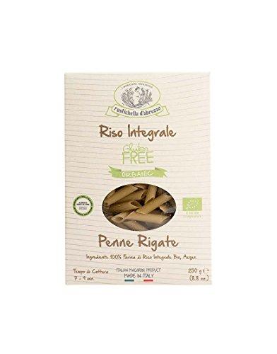 Rustichella D'Abruzzo - Pasta Penne Rigate De Arroz Integral Biológico Sin Gluten 250gr