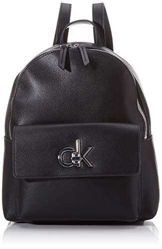 Calvin Klein Damen Re-Lock Backpack Sm Rucksack, Schwarz (Black), 1x1x1 cm