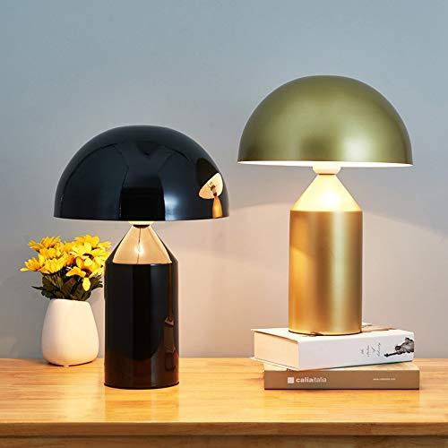 Lámparas de mesa DKEE Hardware Creative Designer Mushroom Head Lamp Sala De Estar/Dormitorio/Lámpara De Noche/Lámpara De Estudio/Lámpara De Mesa De Seta (Color : Metallic)