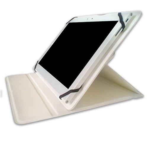 Flip Cover STAND per Tablet Komu T10 in ecopelle Bianco ACCESSORIO ORIGINALE KOMU
