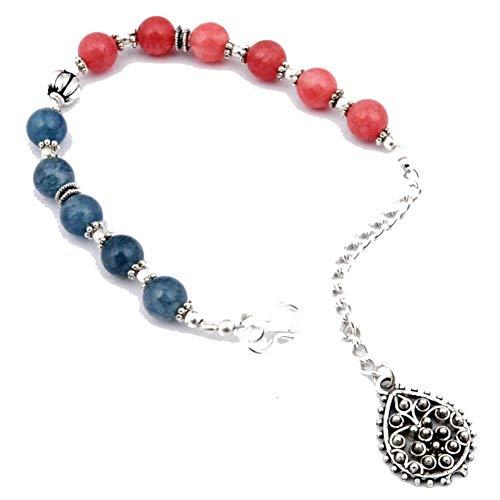 PULSERA Tribal de perlas simuladas coloridas 7-9 'de largo chapado en plata de ley joyería de arte hecha a mano tienda de variedad completa