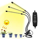 Calistouk Luz de crecimiento 30W LED Lámpara Bombillas Luces de planta espetro interior automático con niveles de temporizador de 3/6 / 12H