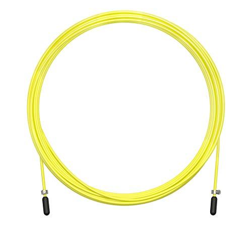 Ersatzkabel für Crossfit Springseil, Fitness und Boxen Gelbes PVC und 2 mm Stahl | Für regelmäßiges Training | Verbessere Deine Doppelsprünge | Kompatibel mit Anderen Marken. Durch VELITES