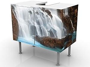 Apalis Mobile per lavabo Design Waterfalls 60x55x35cm, Basso, Larghezza: 60cm, Regolabile, mobiletto da lavandino, lavandino, mobiletto da lavabo, lavabo, mobiletto, Bagno, Bagnetto, Mobile da Bagno