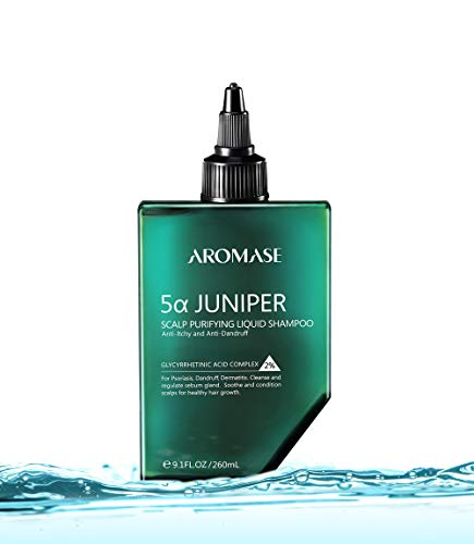 AROMASE 5α Juniper Scalp Purifying Liquid Shampoo, Award Winning Scalp Exfoliator Ideal for Dandruff, Psoriasis, Dermatitis, Dry & Sensitive Scalp, Oily hair, Scalp Cleanser for Removing Hair Build-Up & Residue with Amino Acid Surfactant , No Sulfate, pH5.5 (9.1 Fl Oz)
