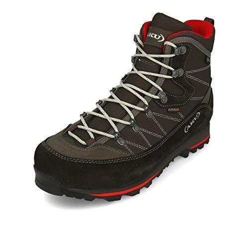 AKU Trekker Lite III GTX, Chaussure Bateau Homme, Gris-Rouge, 44 EU