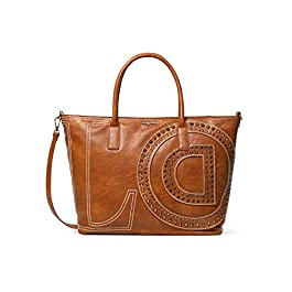 Desigual – Grand sac cabas femme LOVE en simili cuir noir (20saxp18) taille 30,5 cm
