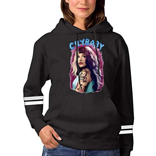 MF_H00dy.Z Fashion Melanie_Martinez Women Hoodies Sweatshirts Cotton Hoodie for Girls with Pockets Hooded L Black