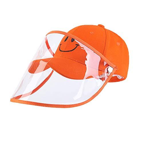 Protector Solar para niños Visor, antiesputo, protección Facial Completa Protección contra el Polvo Gorra de béisbol a Prueba de Viento para protección de Ojos y Cabeza.