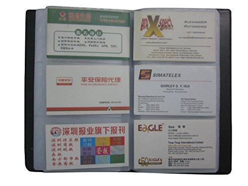 Tarjetero para tarjetas de visita, capacidad para 300 tarjetas, color negro