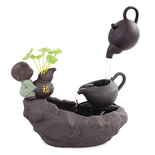 ADUEYE Creative Ceramic Water Humidifier Office Home Accessories Bonsai Ornaments (Size : Large)