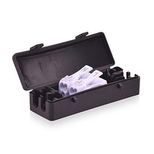 Klemmleistenbox Verbinderbox 16A 450V T100 Kabelverbinderbox mit Lüsterklemme 2 Wege in schwarz