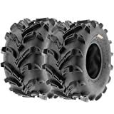 Set of 2 SunF A024 22x11-9 ATV UTV Mud/Trail Tires, 6-PR, Deep Directional Tread