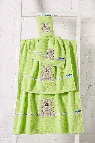 Morgenstern Gästetuch Hippo grün 30x50 cm