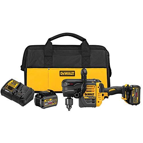 DEWALT FLEXVOLT 60V MAX Right Angle Drill Kit, Stud/Joist, 1/2-Inch, 2 Batteries (DCD460T2)
