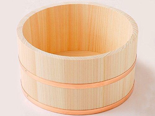ひのき 湯桶(小) 銅タガ ヒノキ風呂桶