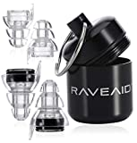 RaveAid High Fidelity Earplugs - Concert Earplugs, for Musicians, Concerts, Motorcycle Riders, Rave Music, Festival, Acoustic Vibes - HiFi, Best Noise Reducing, Musician'Earpeace', Noise Reduction