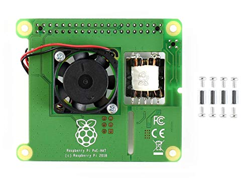 IBest Power Over Ethernet Hat Expansion Board for Raspberry Pi 3 Model B+, Support 802.3af Network Standard with Brushless Fan for Processor Cooling