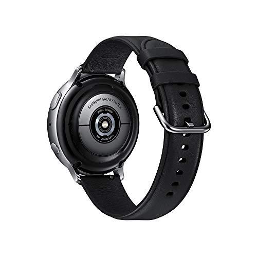 Samsung Galaxy Watch Active2 Smartwatch Bluetooth 44 mm in Acciaio Inossidabile e Cinturino in Pelle, con GPS, Sensore di Frequenza Cardiaca, Tracker Allenamento, IP68, Silver
