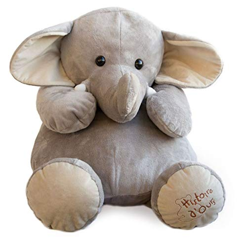 Nature HO1285 - Peluche Elefante, 60 cm