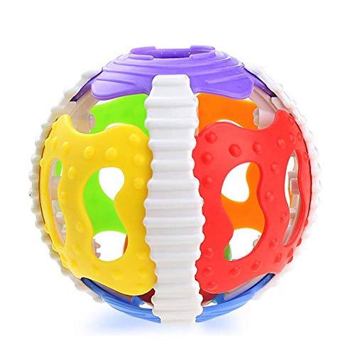 LeftSuper Bal Speelgoed Zacht Rubber 0-1Y Baby Rammelaars Kleine Luide Bel Bal Grijpen Puzzel Speelgoed