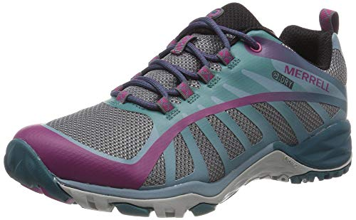 Merrell Siren Edge Q2 Waterproof, Zapatillas de Senderismo para Mujer, Multicolor (Clover/Smoke), 38 EU