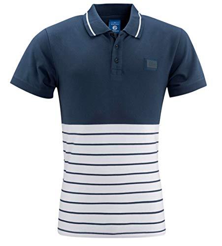 FC Schalke 04 Herren Polo Shirt 1904 blau weiß, Gr. L